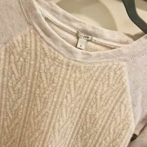 J. Crew • Sherpa front sweater
